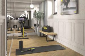 Strefa fitness w pokojach sieci Kempinski Hotels