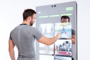 Interaktywna strefa w klubie fitness
